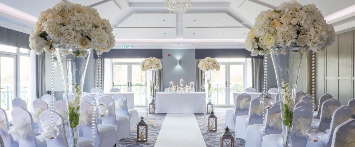 Formby Hall Golf Resort Wedding Room With Flowers