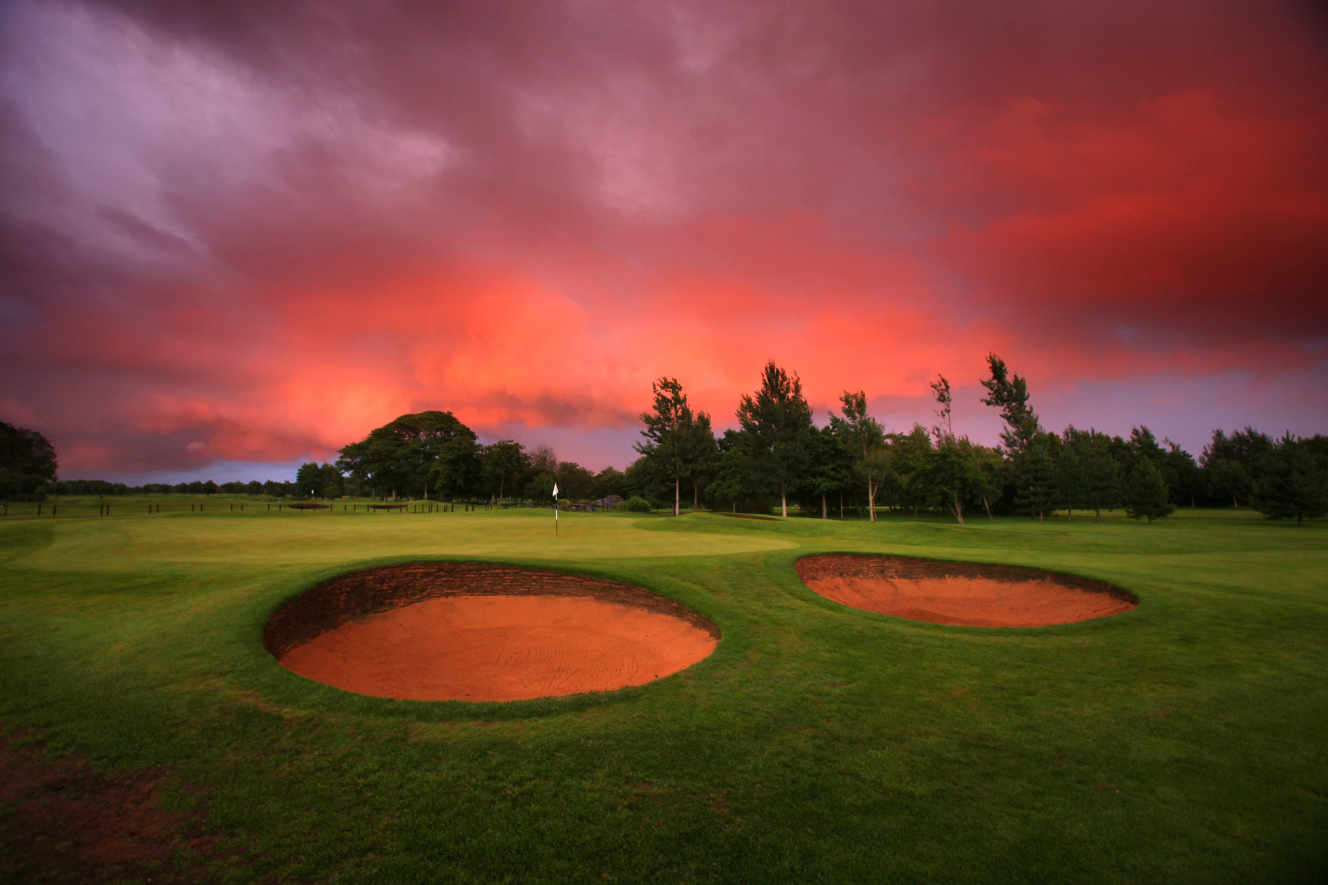 Formby Hall Golf Resort Hole At Night Sunset